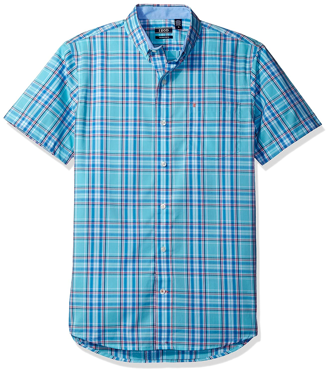 Izod Mens Advantage Performance Easycare Plaid Short Sleeve Shirt IZOD Men's Sportswear 45SW740-505246