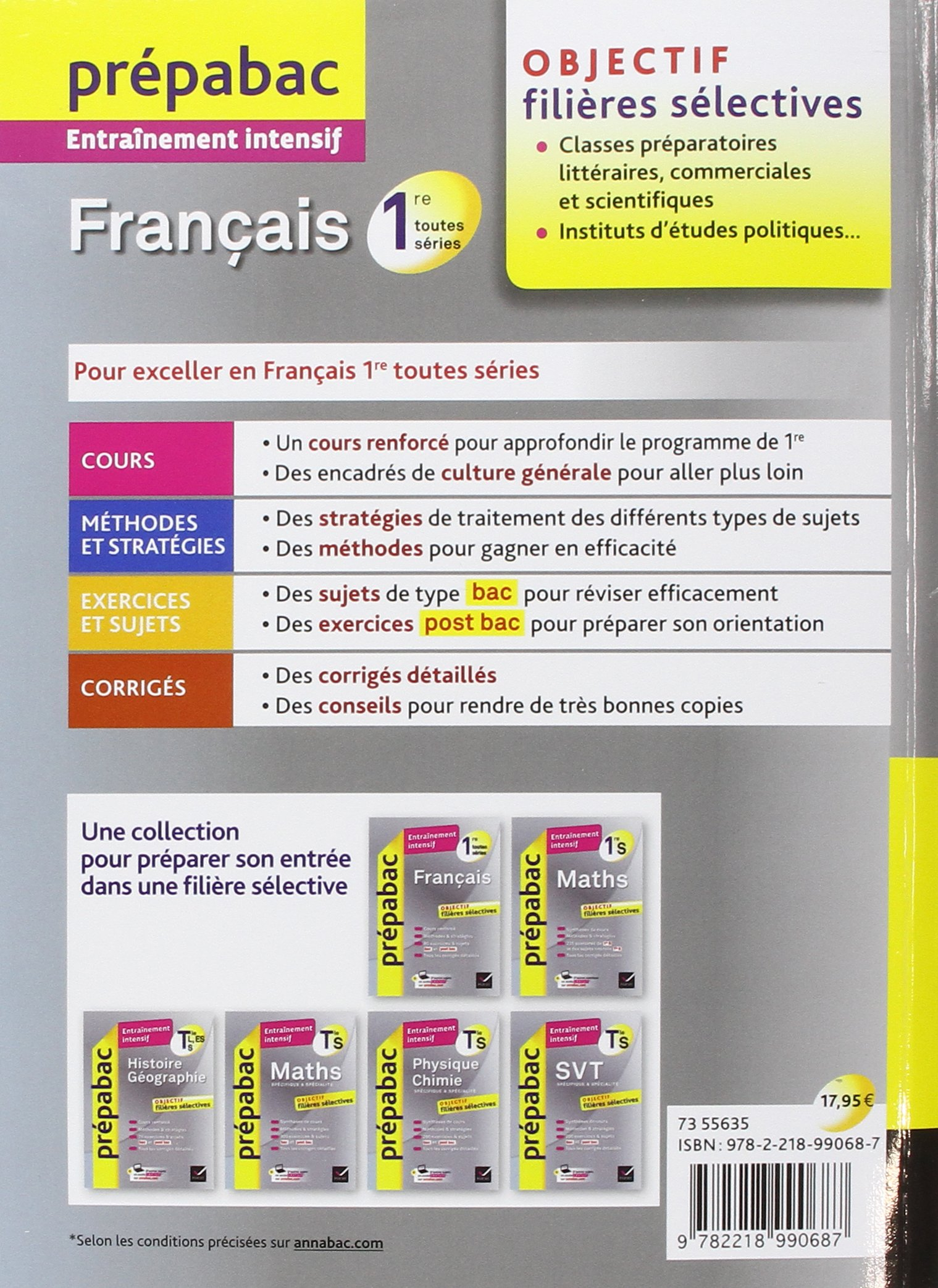 Prepabac Entrainement Intensif: 1re - Francais - (Toutes Series) (French Edition): 9782218990687: Amazon.com: Books
