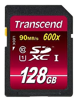 Transcend SDXC Card 128GB Class 10 UHS - Tarjeta de memoria SecureDigital de 128 GB (conmutador protección contra escritura, clase: 10, SDXC, UHS I, ...