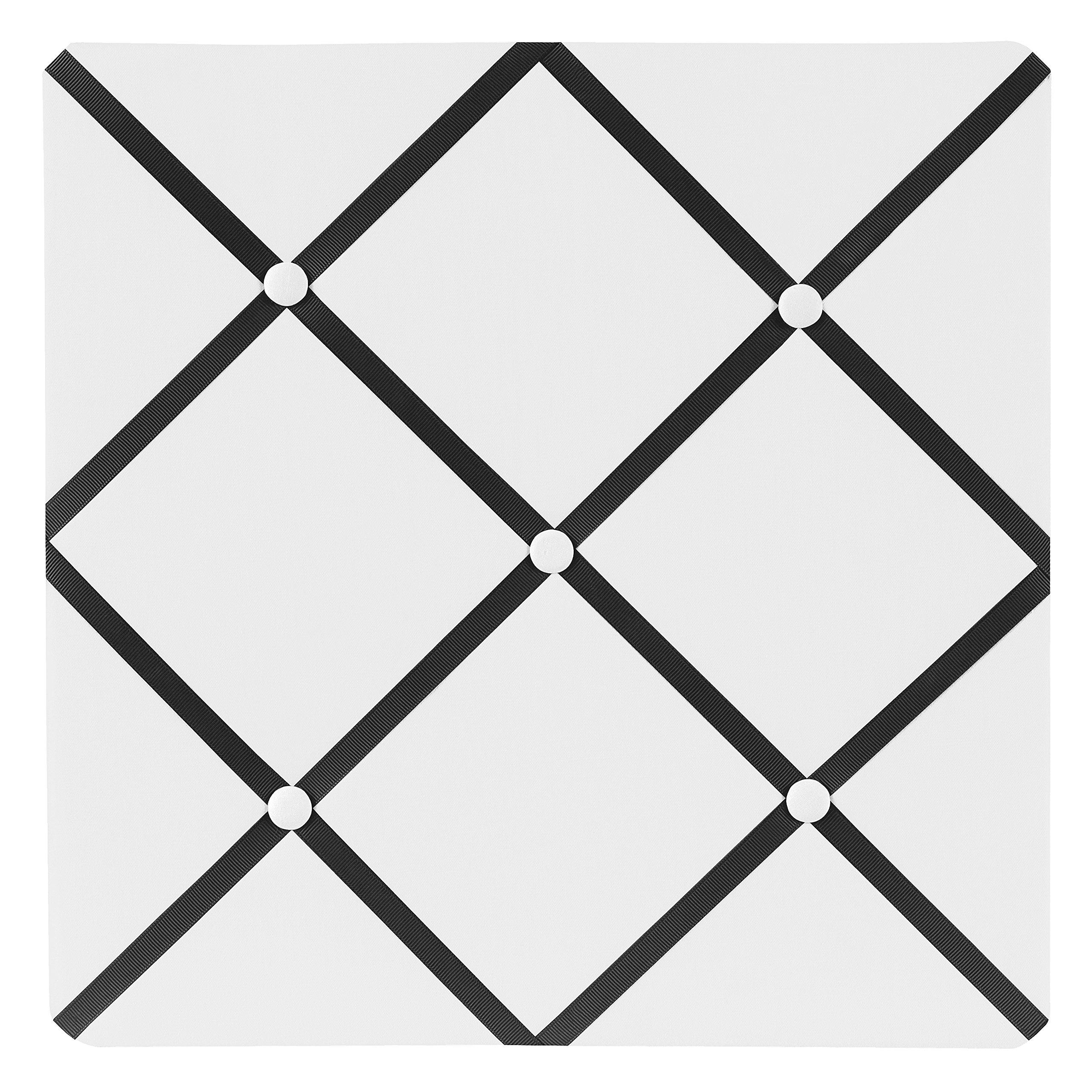 Sweet Jojo Designs White and Black Hotel Fabric Memory/Memo Photo Bulletin Board