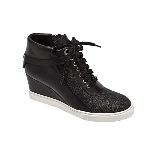 b02f4e124f1f4 Linea Paolo   Freja   Women's Lace-up Comfortable Leather Platform Wedge  Sneaker