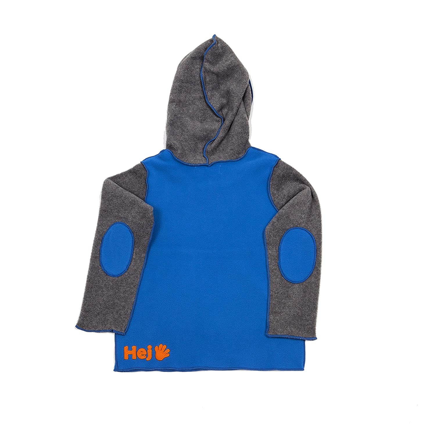Hej 100/% Polyester Blue Grey Hoodie With Kangaroo Pocket Sweat Shirt For Boys