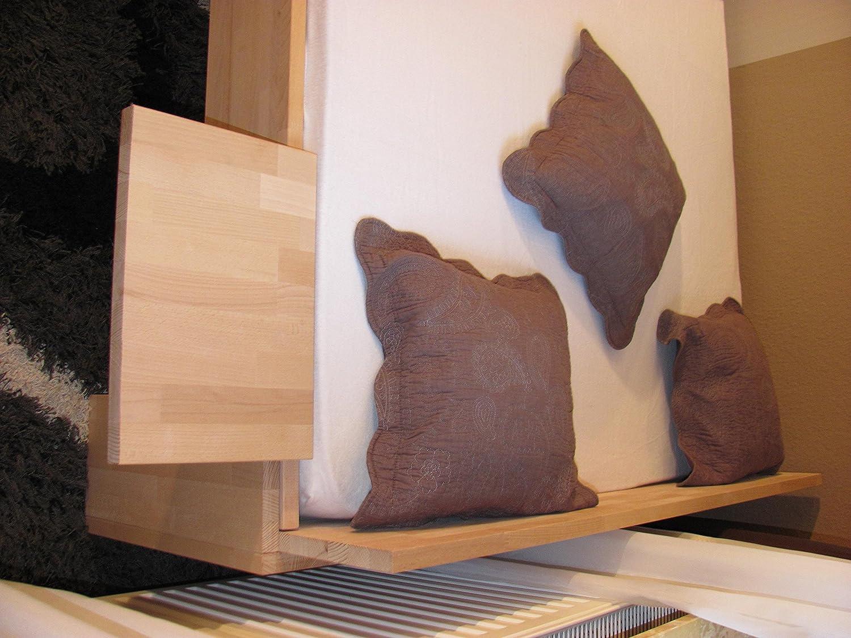 Bassner Holzbau 27mm Echtholzbett Massivholzbett Buche 180x200 Fuss I