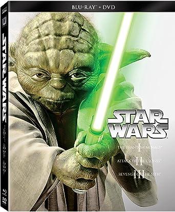 Amazon com: Star Wars Trilogy Episodes I-III (Blu-ray + DVD