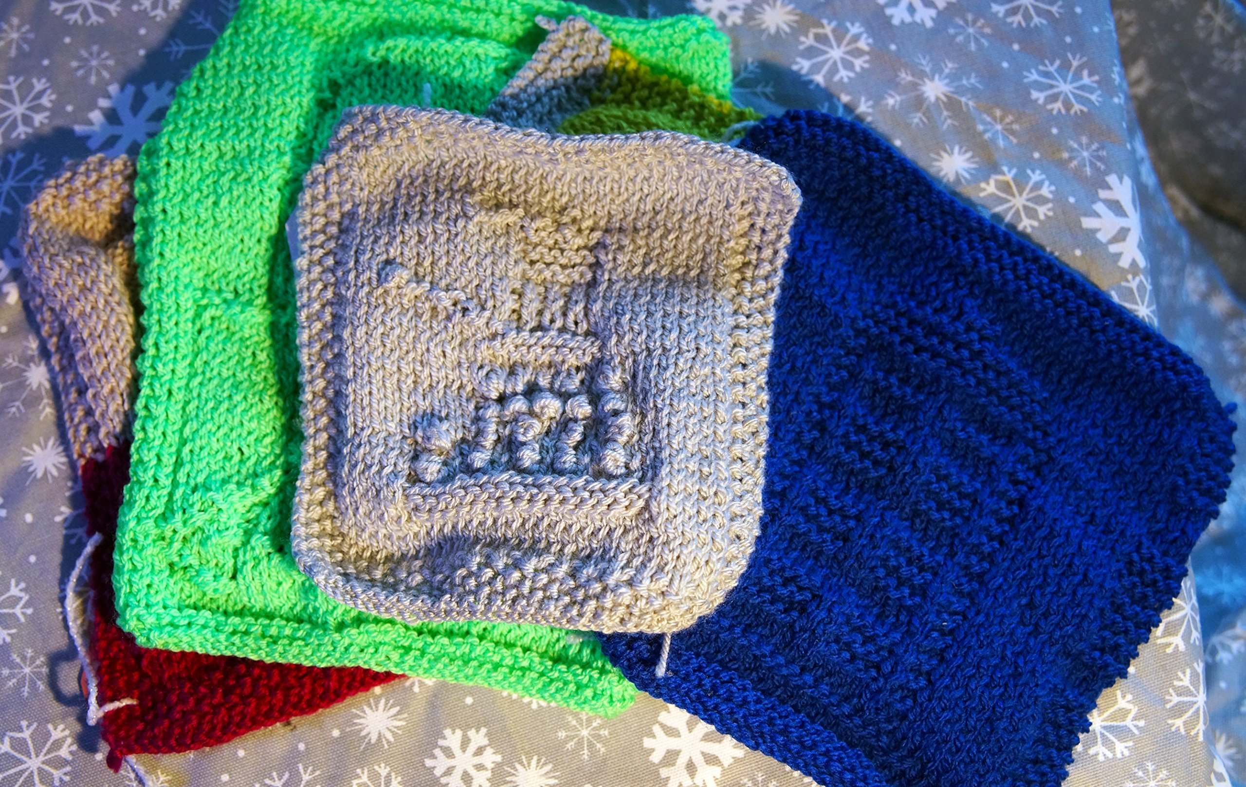 set of 5 washcloths various geeky designs by Crafty Snowflakes