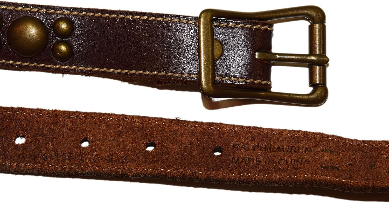Ralph Lauren Polo Cinturón de piel para mujer (doble vuelta, latón ...