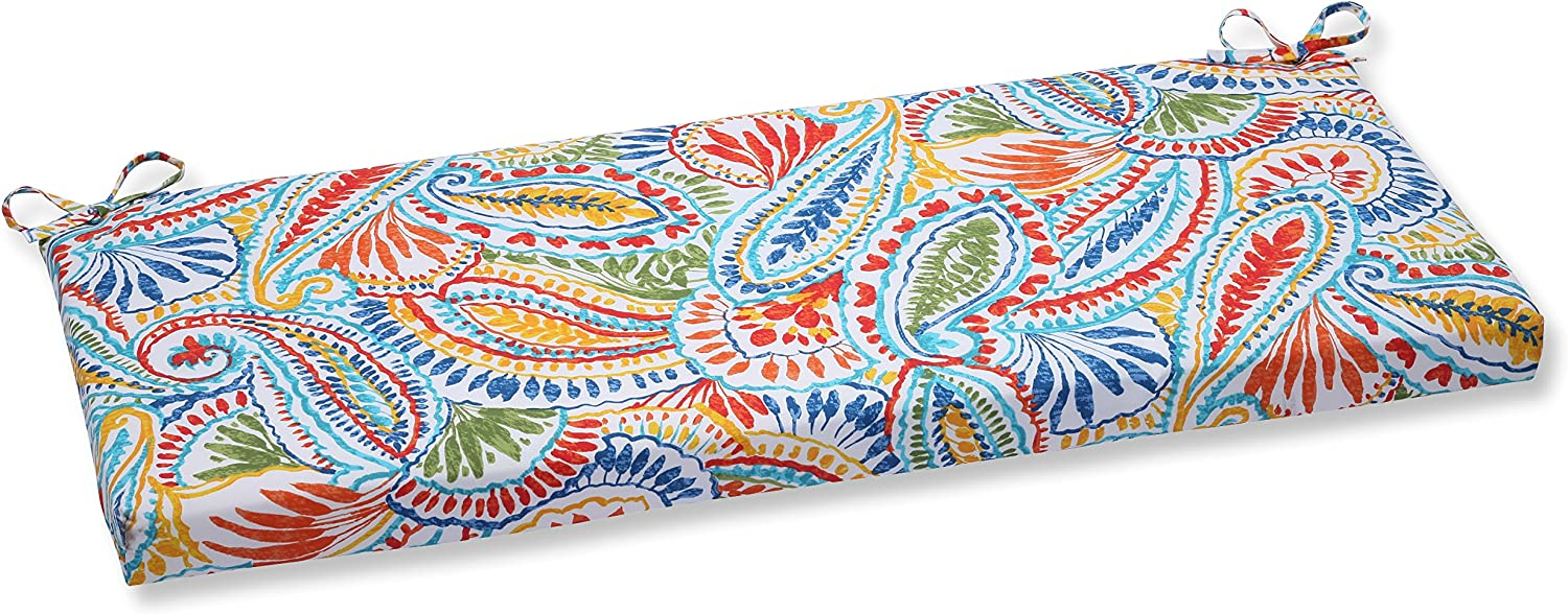 Pillow Perfect Outdoor Ummi Bench Cushion, Multicolored