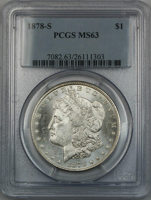 1878-S US Morgan Silver Dollar $1 NGC MS63
