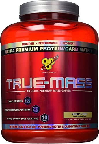 BSN True-Mass Gainer Cookies Cream — 5.82 lbs