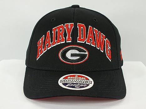 7a8f8d3c61829 Amazon.com   ZHATS Georgia Bulldogs Hairy dawg NCAA Snapback Cap by ...