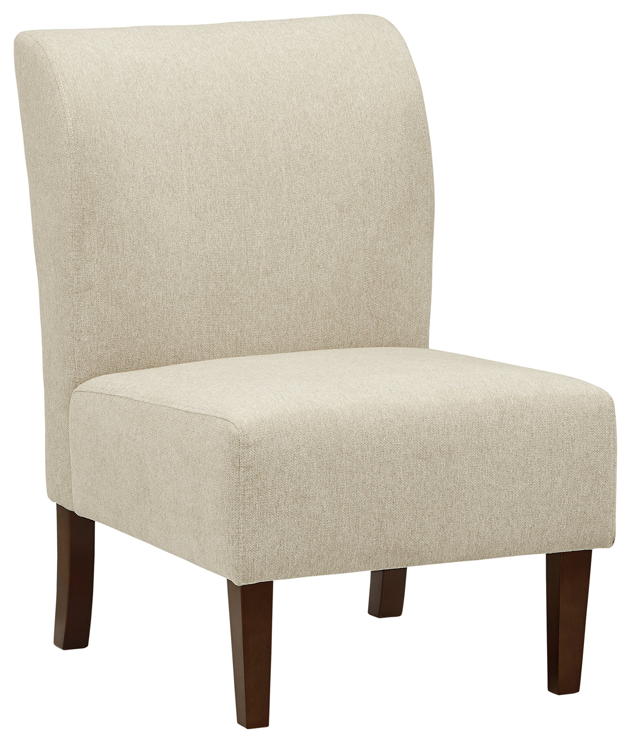 "Amazon Brand – Stone & Beam Lummi Modern Armless Living Room Accent Chair, 21.6"" W, Shell - Let your unique style shine through with this modern accent slipper chair. The soft brushed fabric blends well in your master suite or living room. 29.9""D x 21.6""W x 32.7""H Beech wood frame covered in polyester fabric - living-room-furniture, living-room, accent-chairs - 91czg5Nkc5L -"