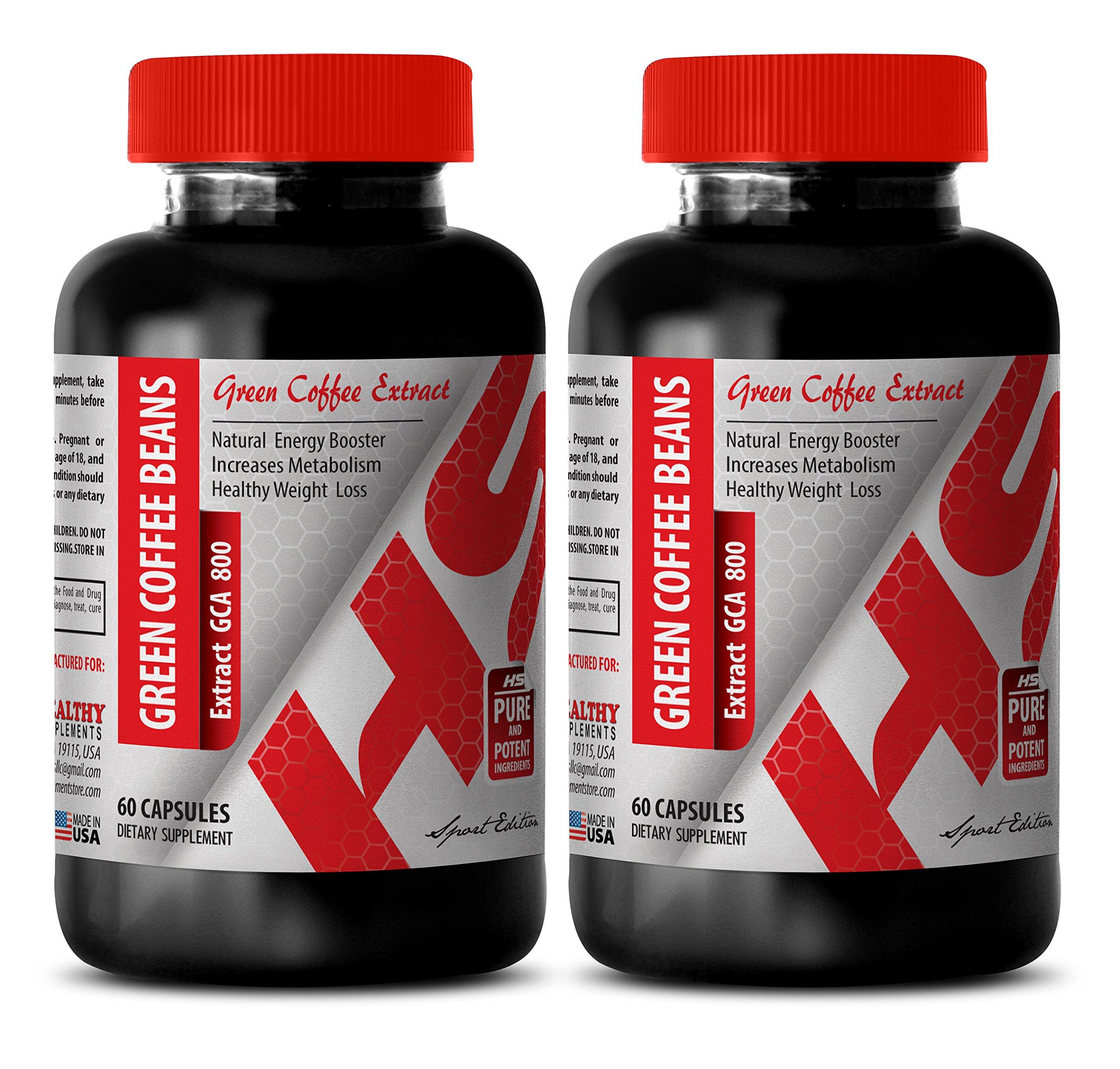 Green coffee bean extract bulk - GREEN COFFEE BEAN EXTRACT 800 MG - support weight management (2 Bottles)