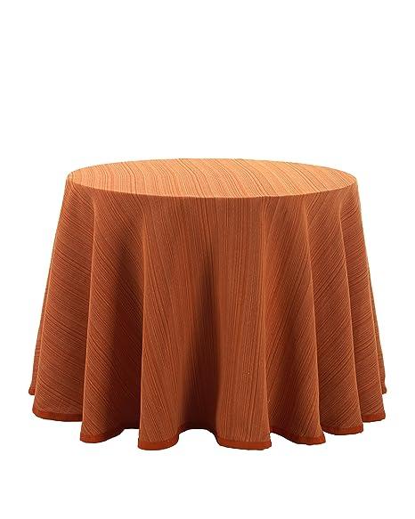 Martina Home Ribero - Falda para mesa camilla , Naranja, Redonda ...