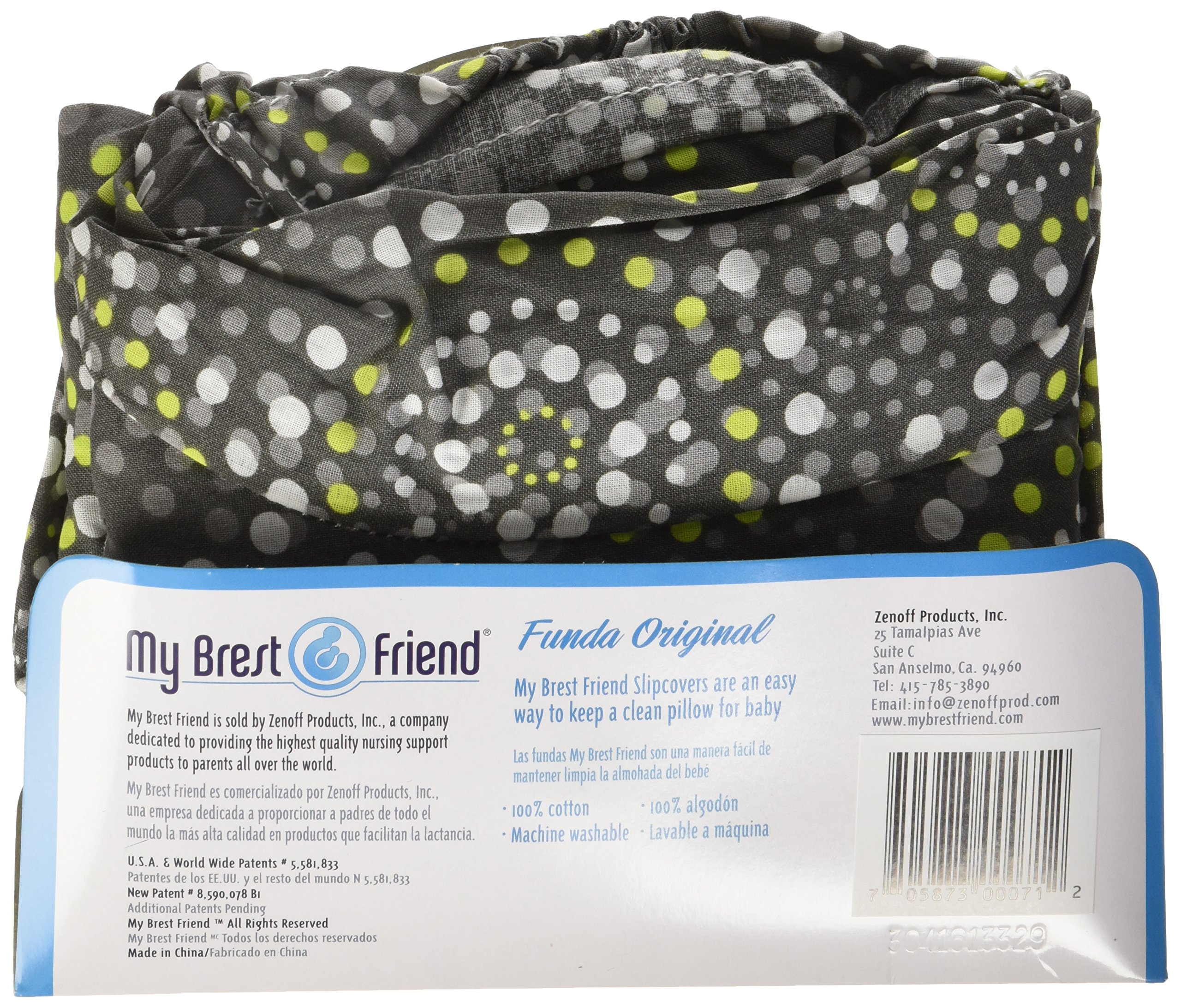 My Brest Friend 100% Cotton Nursing Pillow Original Slipcover – Machine Washable Breastfeeding Cushion Cover - pillow not included, Fireworks by My Brest Friend (Image #3)