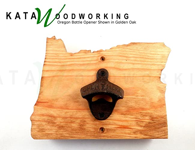 Amazon.com: Oregon Shaped Wood Cut-out Bottle Opener - Wall Mount ...