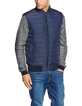 Tommy Hilfiger Herren Weste College Vest, Blau (Black Iris-PT 002),