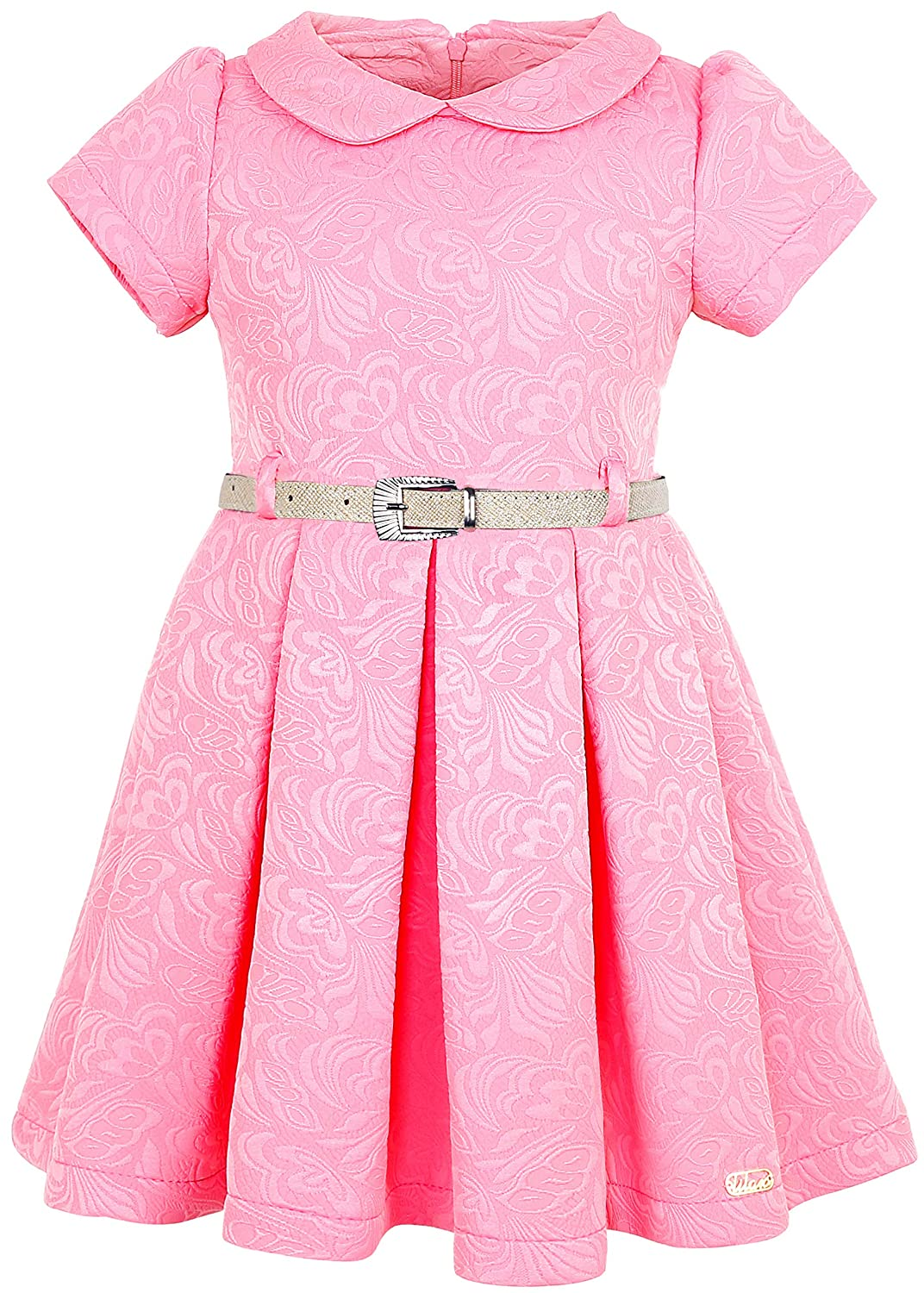 7599ac5bad99 Adorable party dress is made of flock fabric with short sleeves, peter pan  collar and pleated skirt. Elegant party dress made from highest-quality  materials ...