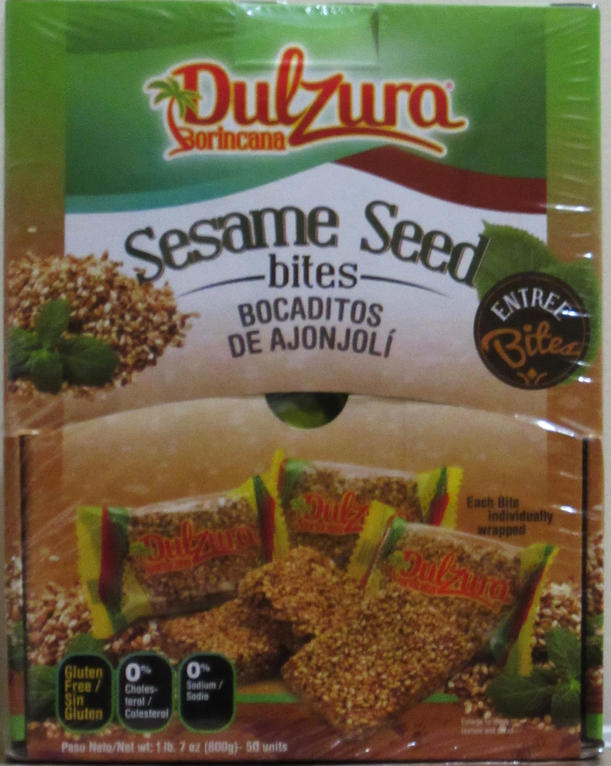Dulzura Borincana Sesame Seed Bites - 50 Packs