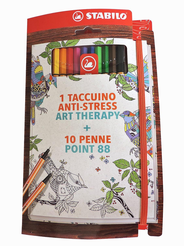 Stabilo Art-Therapy Taccuino - Cofanetto con Taccuino e Astuccio con 10 Penne Point 88 Stabilo International GmbH IT/888-268