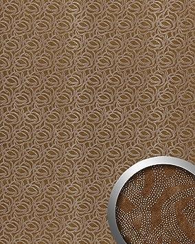Panel decorativo autoadhesivo WallFace 14302 ELEGANZA diseño piel de ante puntitos metálicos deco marrón plata 2,60 m2: Amazon.es: Bricolaje y herramientas