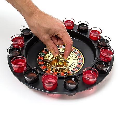 Roulette Trinkspiel mit LED-Funktion Saufspiel Trinkroulette Partyspiel Shotglas