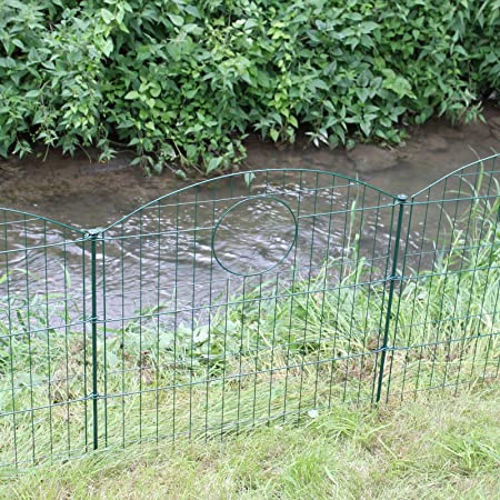 Pond Fence With Circle   Metal Garden Fence Pond Fence Set 10 Elements  Lattice Fence Fence