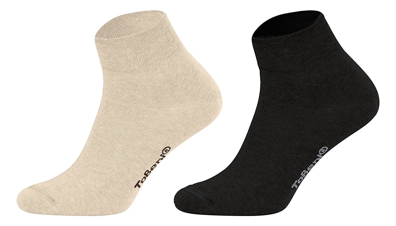 Socken in uni oder farbige Spitze Tobeni 8 Paar Kurzsocken Quarter Socks ohne Gummi f/ür Sie und Ihn