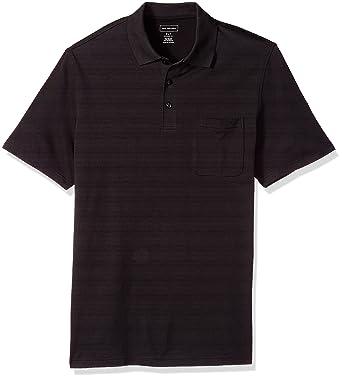 261b5e75c Van Heusen Men's Big and Tall Short Sleeve Jacquard Stripe Polo Shirt at  Amazon Men's Clothing store: