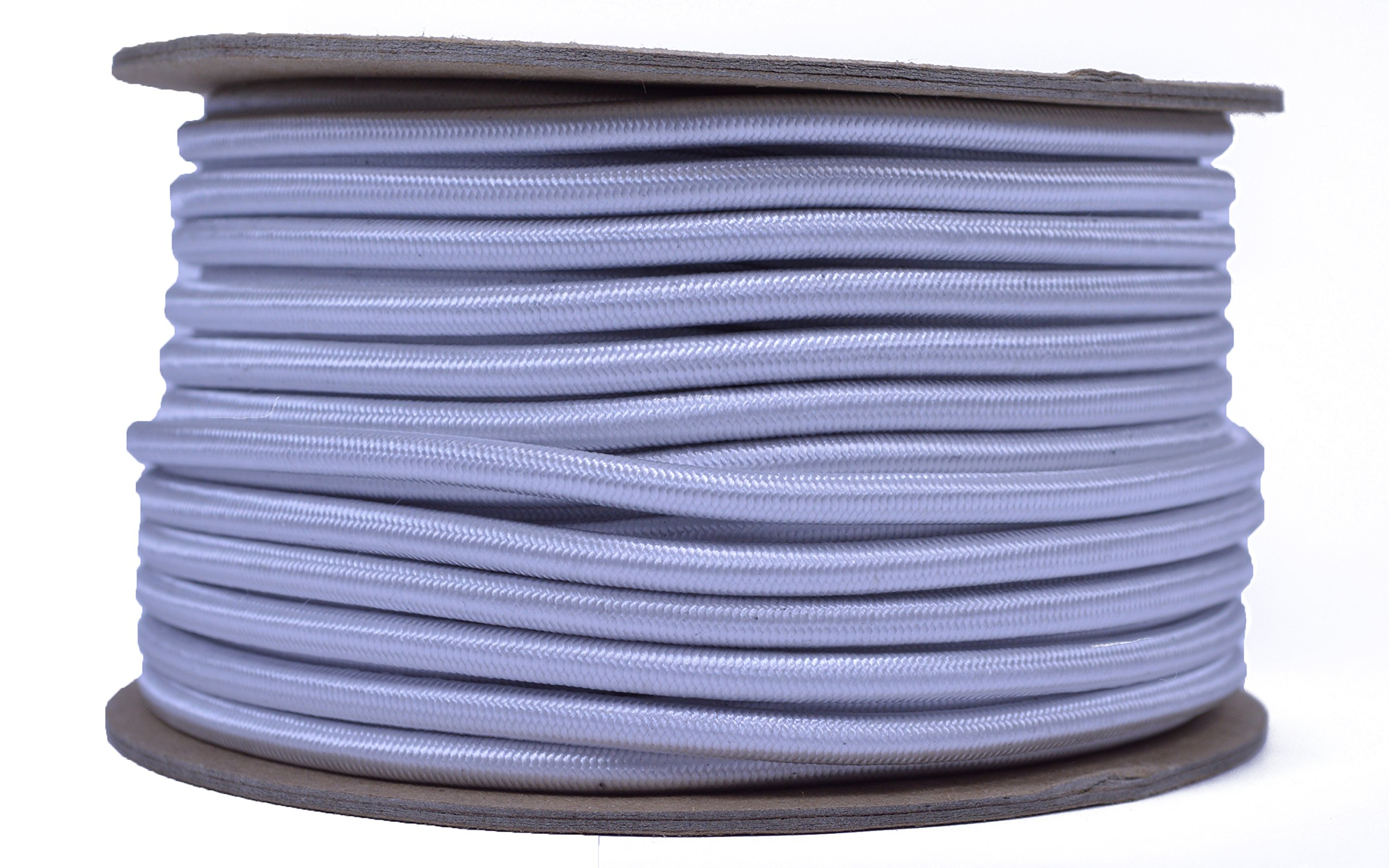 White 3/16'' Shock Cord - BORED PARACORD Marine Grade Shock / Bungee / Stretch Cord 3/16 inch x 100 feet Several Colors - Made in USA