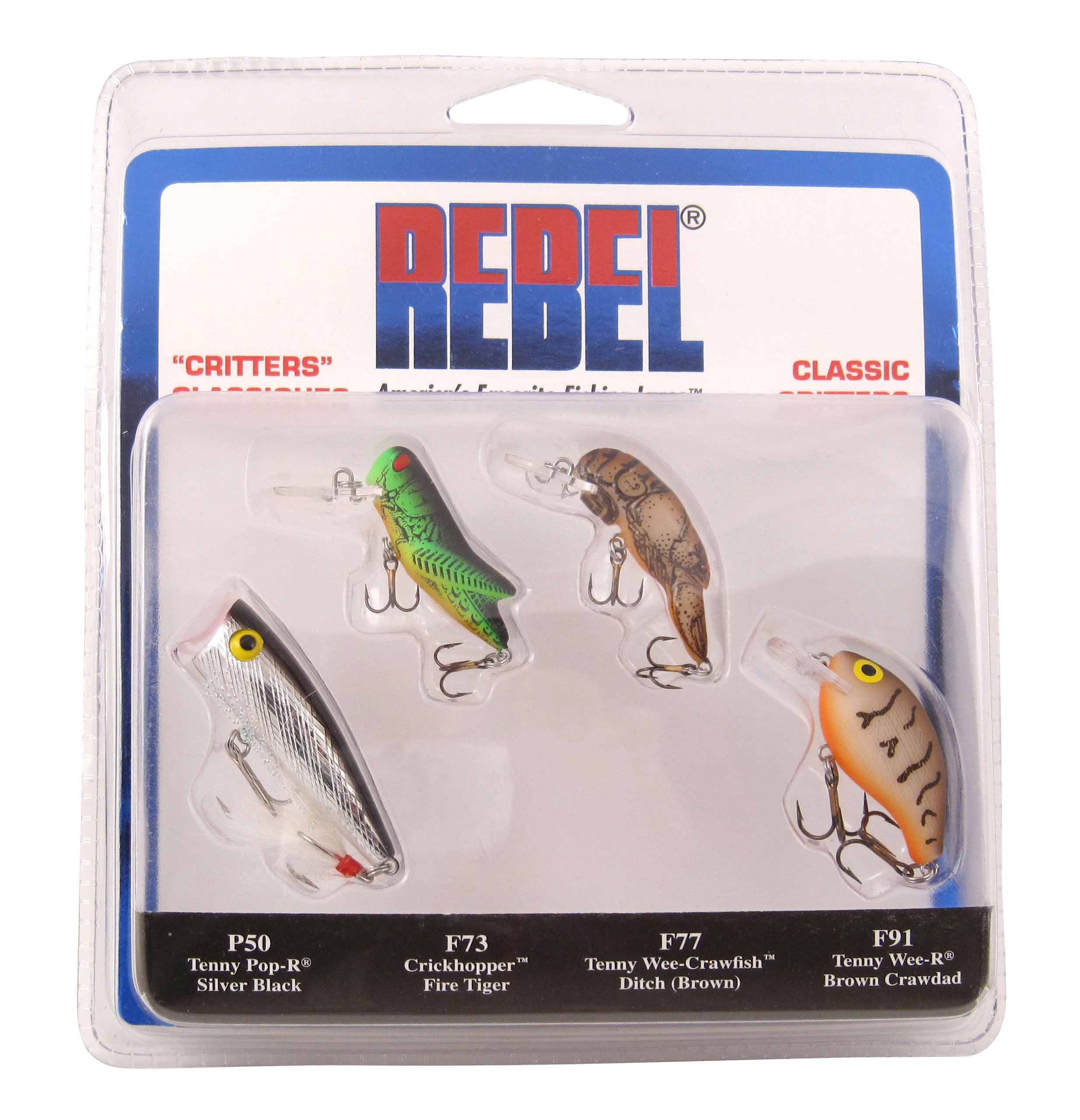 Rebel Lures #2 Micro Critter Tackle Pack of 3