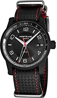Montblanc Timewalker UTC Mens Automatic Dual Time Zone Watch - 42mm Black Face with Date and