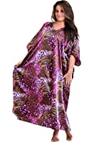 Up2date Fashion Pink Cocktail Animal Print Caftan, One Size Style Caf-30C2