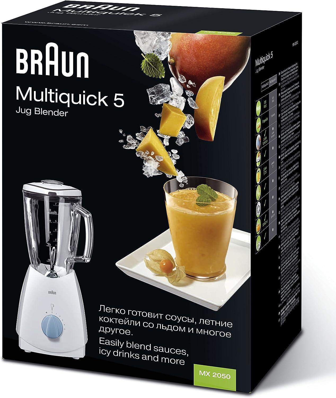Braun MX 2050 Batidora de vaso 1.75L 525W Negro - Licuadora (1,75 ...