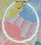 "Amazon Price History for:Native Treasure - Polished White Rose Clam Chips Puka Shell Necklace - Adjustable 16"" to 18"""