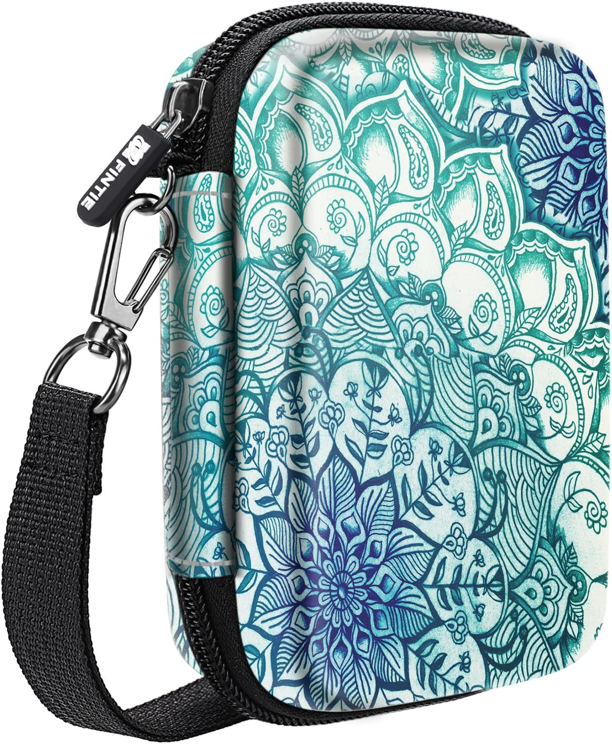 Fintie Carry Case Compatible with Polaroid Snap/Snap Touch Instant Camera, Polaroid Zip/HP Sprocket 2nd Edition Printer, HP Sprocket 2-in-1, Hard EVA Shockproof Storage Travel Bag (Emerald Illusions)