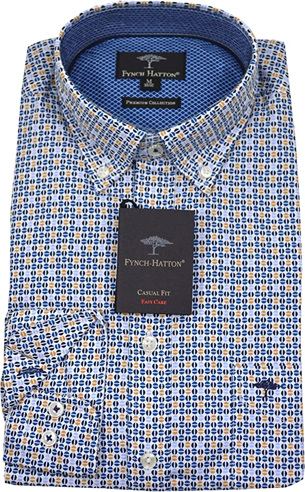 Fynch Hatton 1219-6150 6151 - Camiseta para Hombre, Color Mostaza ...