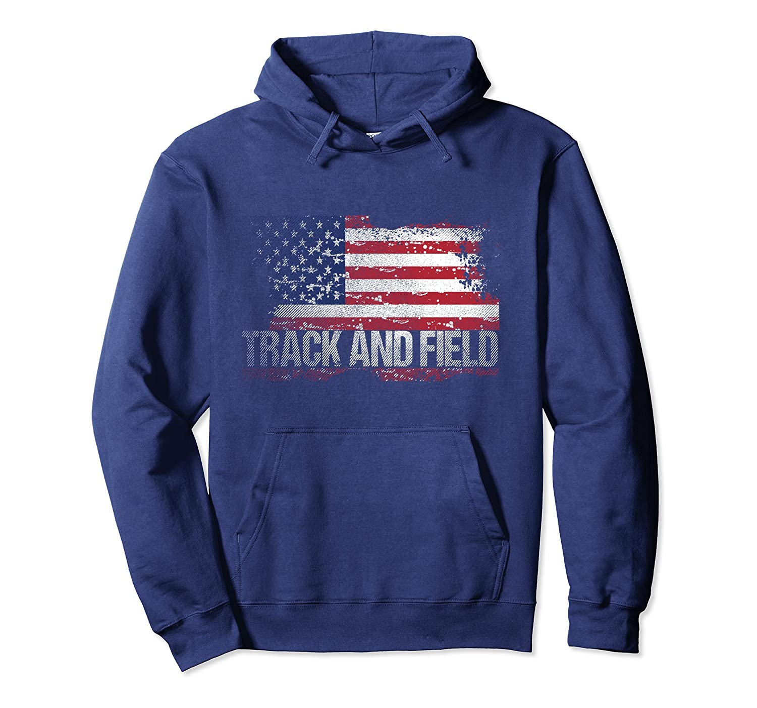 USA Flag Track And Field hoodie-anz