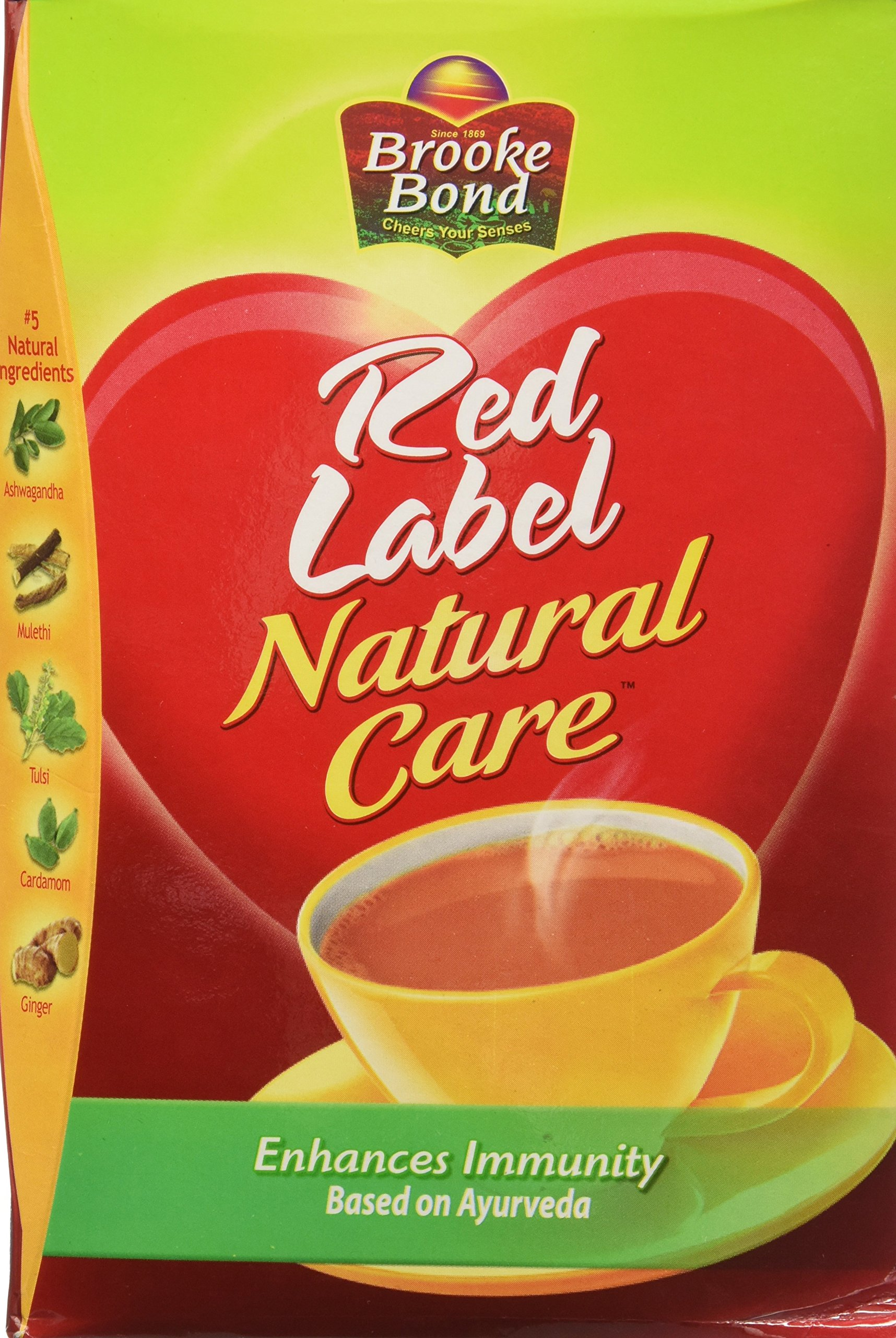 Brooke Bond Red Label -Natural Care(5 Ayurvedic Ingredients)500g