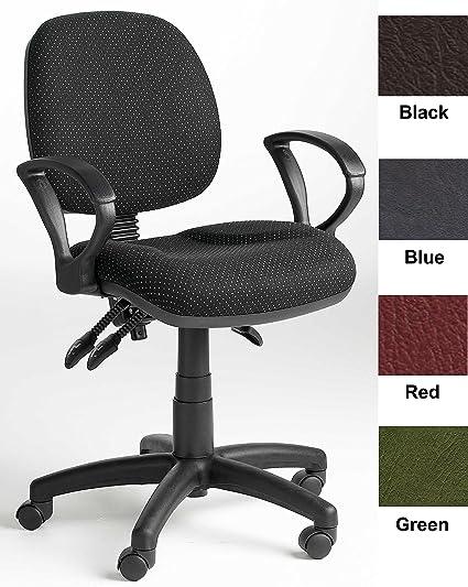 Vinilo tapizado silla de oficina con ruedas y brazos (is-c2), color ...