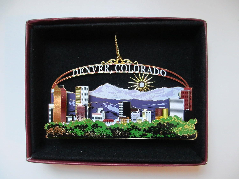 Beautiful Colorado Christmas Ornaments Part - 6: Amazon.com: Denver Colorado Brass Christmas Ornament Souvenir Gift: Home U0026  Kitchen