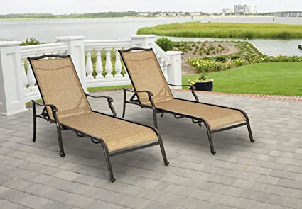 Hanover MONCHS2PC Monaco Chaise Lounge Chairs (Set of 2)