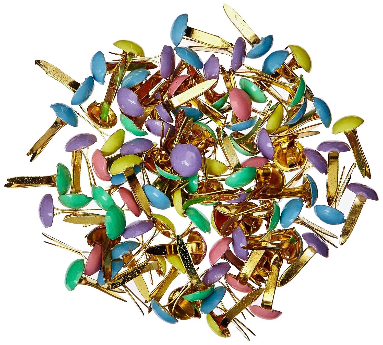 Sconosciuto Mini graffette rotonde in metallo verniciato–100 pezzi/pastello Unknown FBA_CI90192
