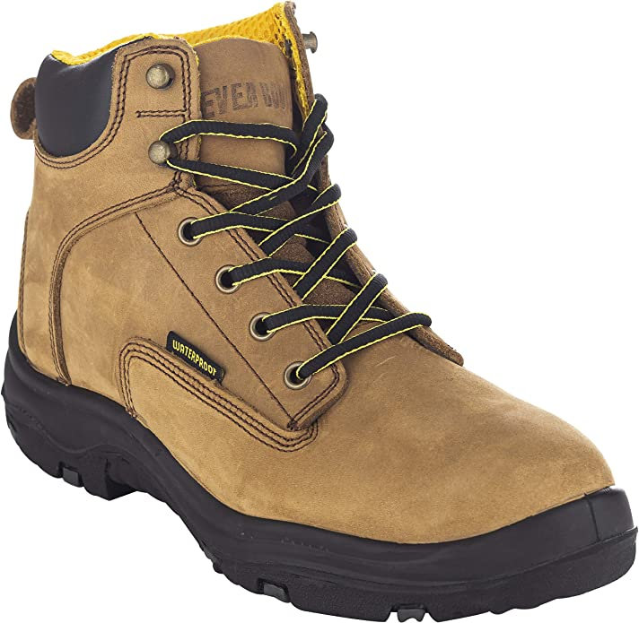 EVER BOOTS Ultra Dry Premium Leather Work Boots