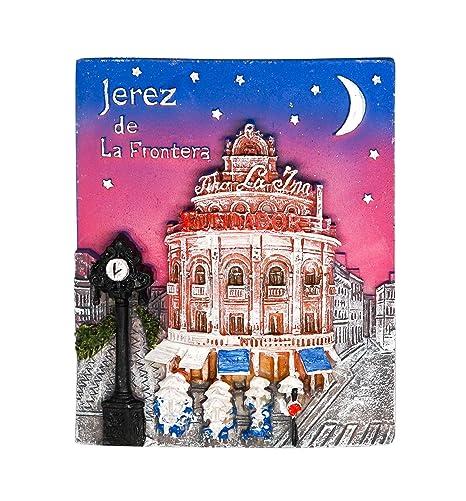 zamonji Jerez de la Frontera, Souvenir de España 3D Resina Imán de Nevera Imanes para Refrigerador Decoración del Hogar y la Cocina Regalo de Recuerdo ...