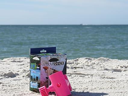 Beach Umbrella Anchor Mount Strap Shade (Color: Pink , White , or Green)  (Pink)