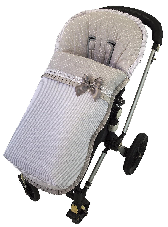 Saco funda para silla de paseo, Modelo Verona gris. Fabricado en España
