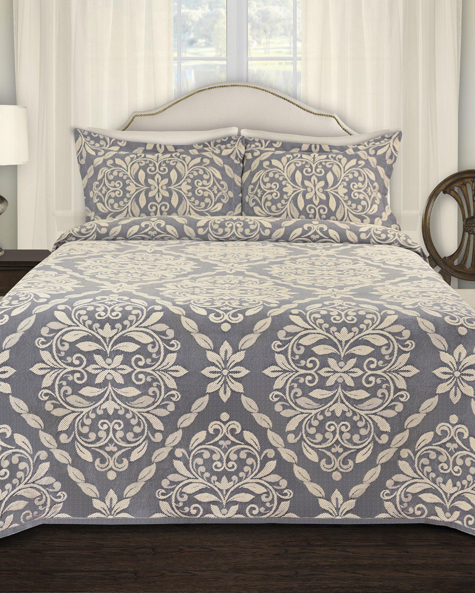 LaMont Home LBBD9410140 Georgio Bedspread, Twin, Denim