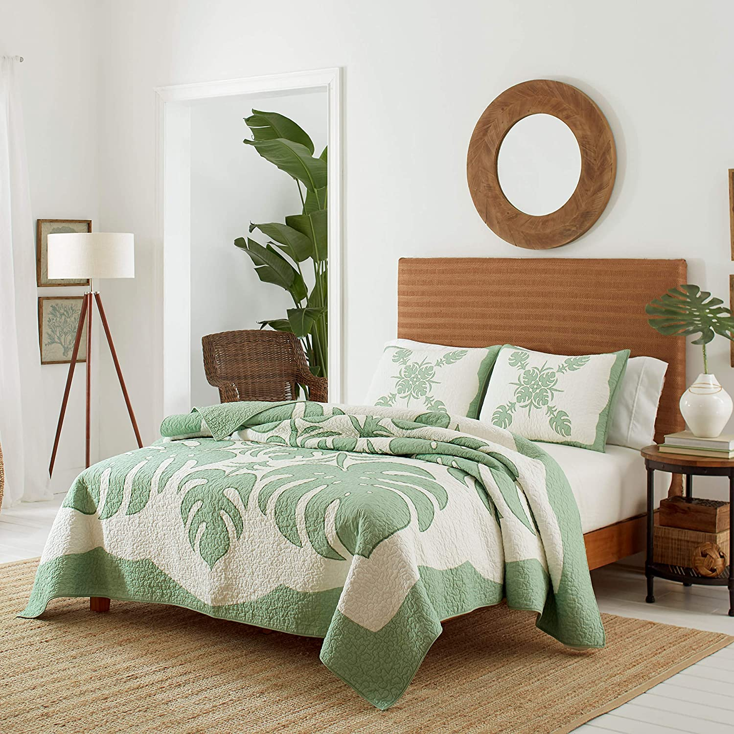 Tommy Bahama Molokai Quilt, King, Mint Green
