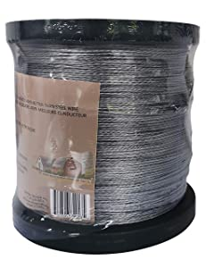 AgriOtter Aluminum Stranded Electric Fence Wire for Garden Fence, Electric Fence, Chicken Wire Fence, Craft Wire5/16 Mile(500M) 16 Gauge (1.6mm) Aluminum Wire