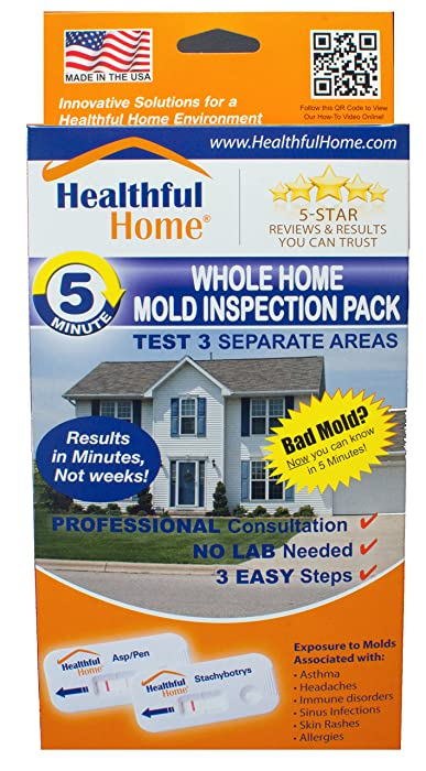 Healthful Home Whole Home Mold Inspection Pack - Tests 3 Separate Areas